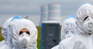 Į Astravo AE atgabentas branduolinis kuras (nuotr. SCANPIX)