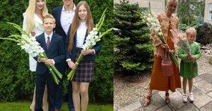 Inga Stumbrienė su šeima bei LinaBražinskaitė su dukra (nuotr. facebook.com)