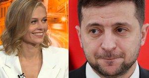 Aktorė Agnė Grudytė trenkė Ukrainos prezidentui (nuotr. SCANPIX) tv3.lt fotomontažas