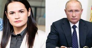 Iš Cichanouskajos lūpų – pagyros Putinui: politologas įvertino padėtį (tv3.lt koliažas)