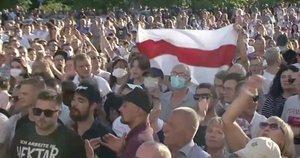 Protestas Baltarusijoje (nuotr. stop kadras)