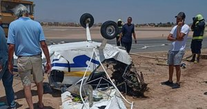 Egipte sudužus lengvajam lėktuvui žuvo du pilotai (nuotr. SCANPIX)
