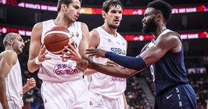 Serbija – JAV akimirkos (nuotr. FIBA)
