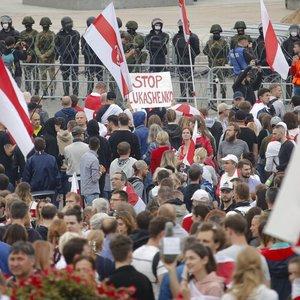 Sekmadienį per protestus Baltarusijoje sulaikyta virš 200 žmonių