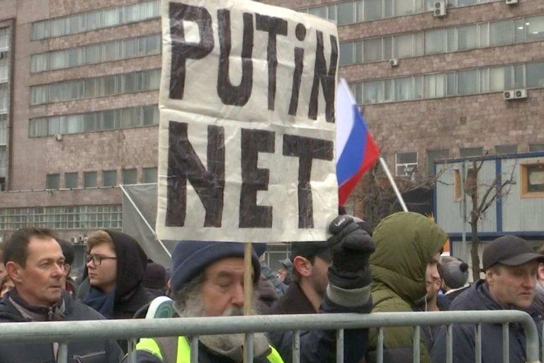 Protestas Rusijoje (nuotr. stop kadras)