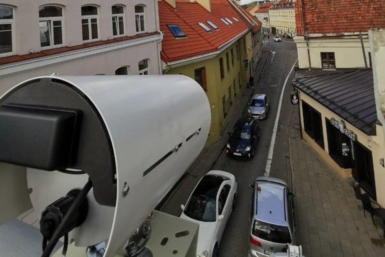 Išmaniosios kameros Vilniaus senamiestyje (nuotr. vilnius.lt)