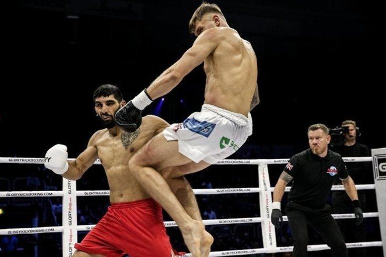 Sergejus Maslobojevas prieš Bahramą Rajabzadehą (nuotr. Organizatorių)