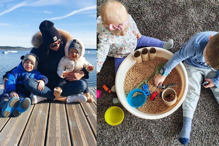 Dviejų vaikų mama papasakojo, ką su mažamečiais veikia namuose (nuotr. asm. archyvo)
