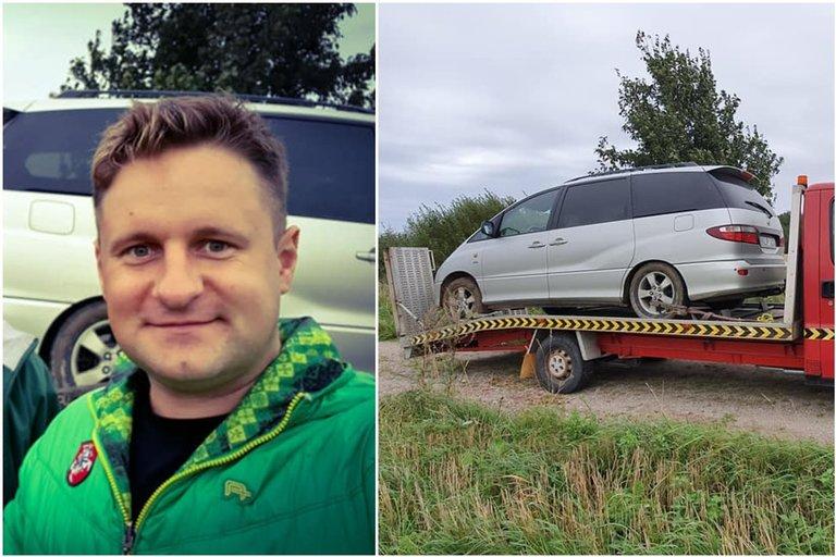 Andriaus Rimiškio automobilis (tv3.lt fotomontažas)