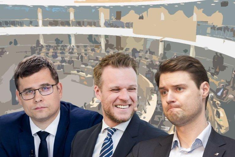 Laurynas Kasčiūnas, Gabrielius Landsbergis, Mykolas Majauskas (tv3.lt fotomontažas)