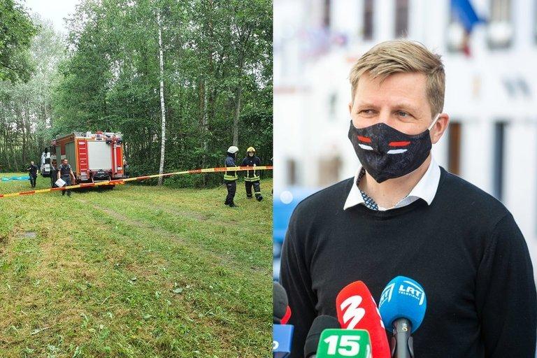 """Šimašius reiškia užuojautą žuvusių """"Vilniaus vandenų"""" darbuotojų šeimoms (tv3.lt koliažas)"""