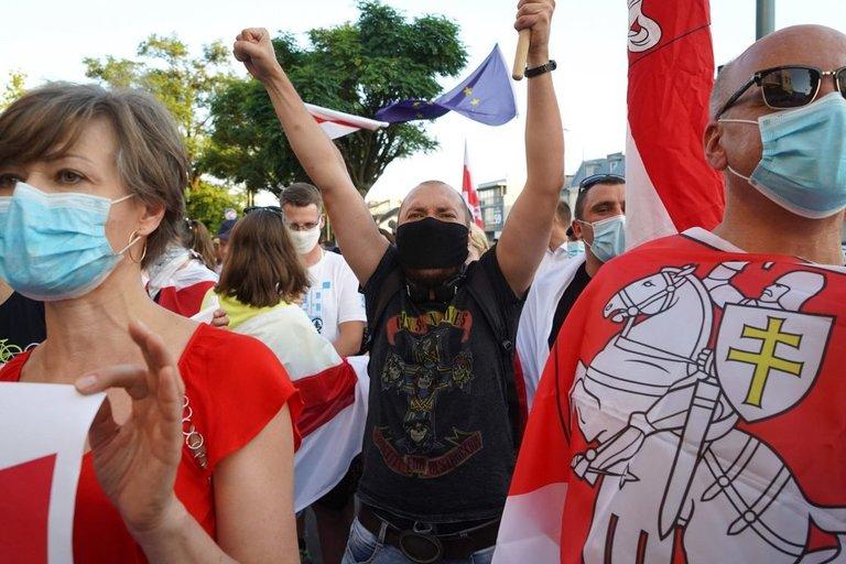 Demonstracijos Baltarusijoje (nuotr. SCANPIX)