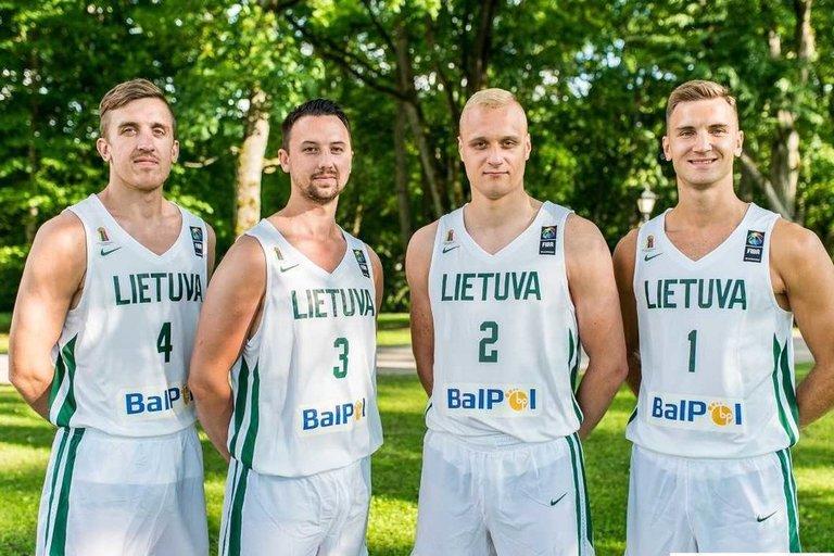 3x3 krepšinio rinktinė (nuotr. Organizatorių)