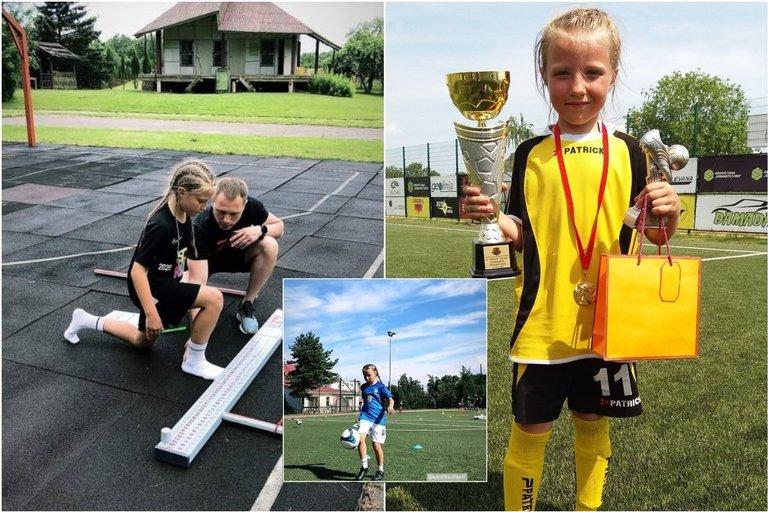 Augustė kamuolį spardo nuo ketverių: svajoja būti futbolininke (nuotr. asm. archyvo)