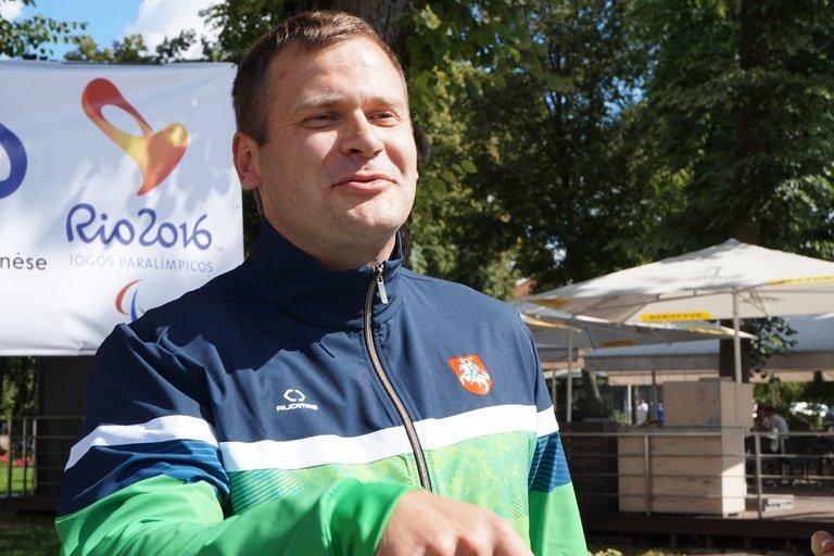 Rio de Žaneiro paralimpinėse žaidynėse Mindaugas Bilius iškovojo aukso ir sidabro medalius. Aldonos Milieškienės nuotr.