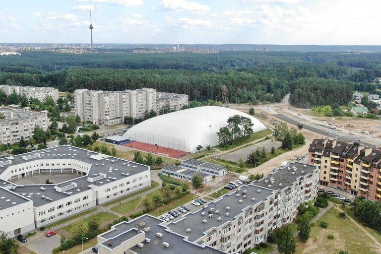 Atidaromas futbolo maniežas Pilaitėje (nuotr. Kastyčio Mačiūno)