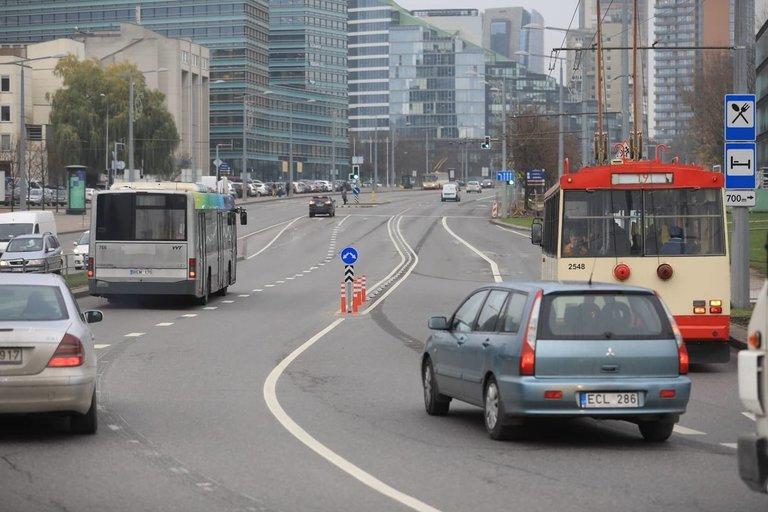 Vienoje pagrindinių Vilniaus gatvių – esminiai eismo pokyčiai (nuotr. Organizatorių)