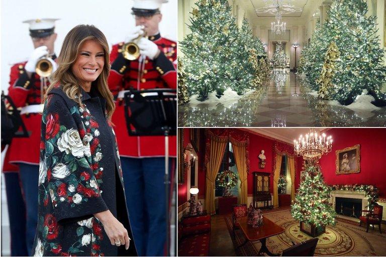 Melania Trump parodė Baltųjų rūmų dekorą (tv3.lt fotomontažas)