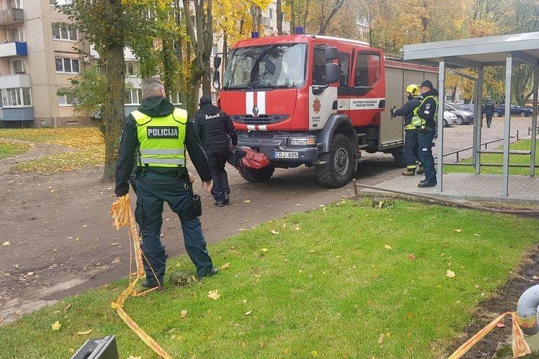Kaune daugiabutyje rastas sprogmuo