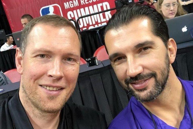 Darius Songaila ir Peja Stojakovičius (nuotr. Instagram)