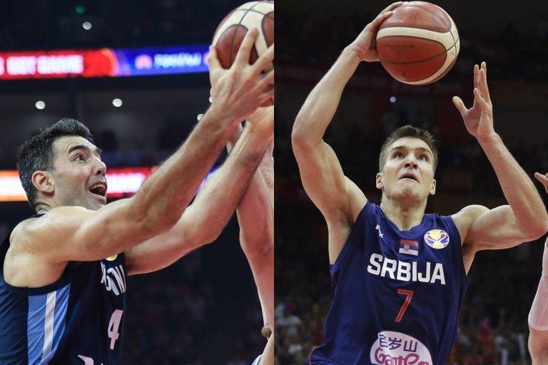 Argentinos ir Serbijos rinktinių lyderiai (nuotr. SCANPIX)