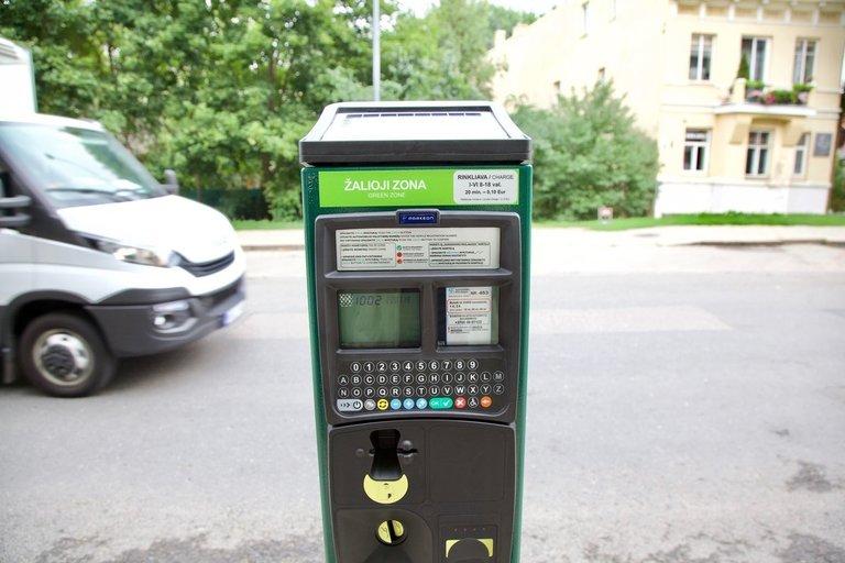 Parkomatai Vilniuje (nuotr. Organizatorių)