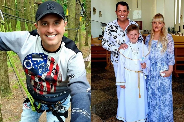 Rytis Cicinas ir jo šeima (nuotr. Instagram)