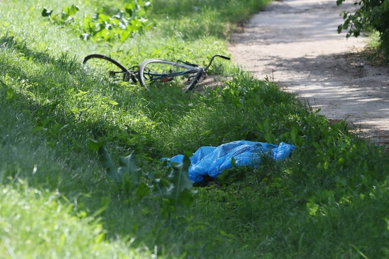 Žuvo dviratininkas (nuotr. Broniaus Jablonsko)
