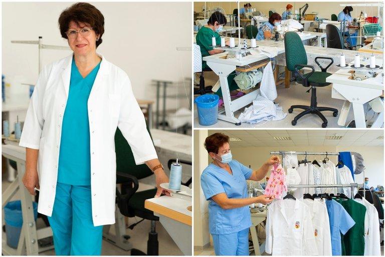 Kauno klinikų siuvyklos darbas (tv3.lt fotomontažas)