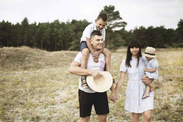 Mackevičių šeimos atostogos Nidoje (A. Vengalio nuotr.)