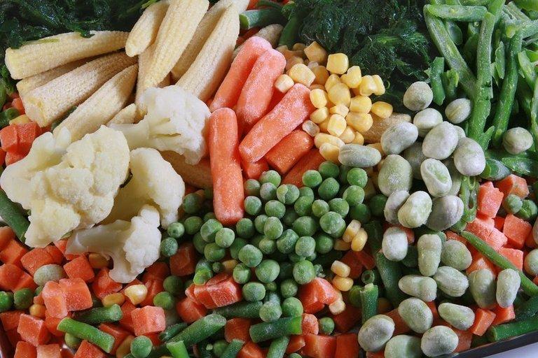 Šaldytos daržovės (nuotr. Organizatorių)