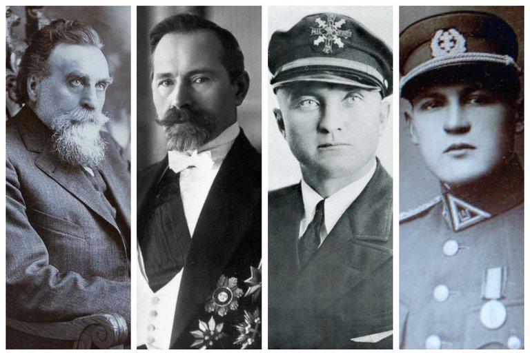 Jonas Basanavičius, Antanas Smetona, Steponas Darius, Jonas Žemaitis