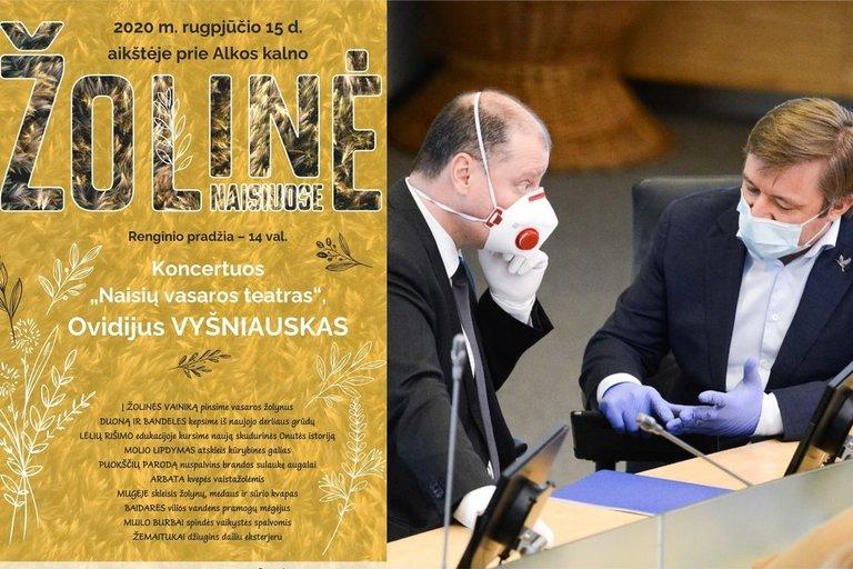 Kol premjeras ragina susilaikyti nuo švenčių, Karbauskis kviečia į Žolines Naisiuose (tv3.lt fotomontažas)