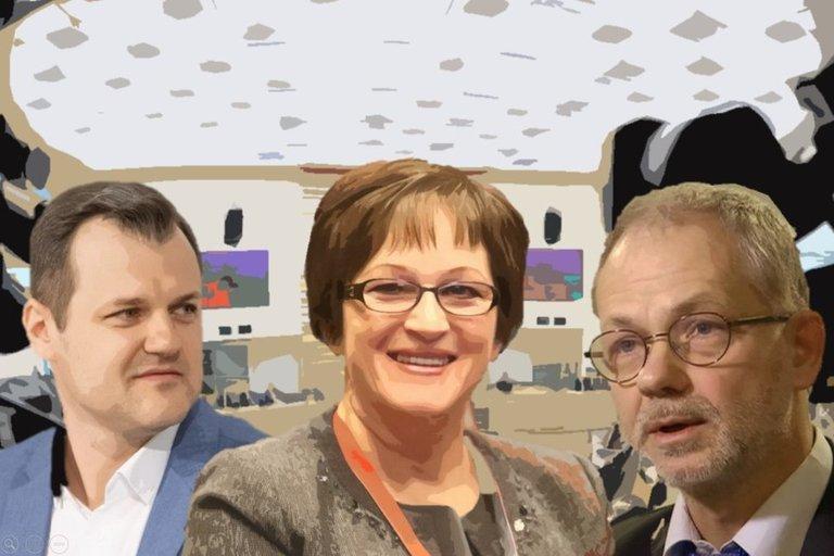G. Paluckas, B. Vėsaitė ir L. Balsys (tv3.lt fotomontažas)