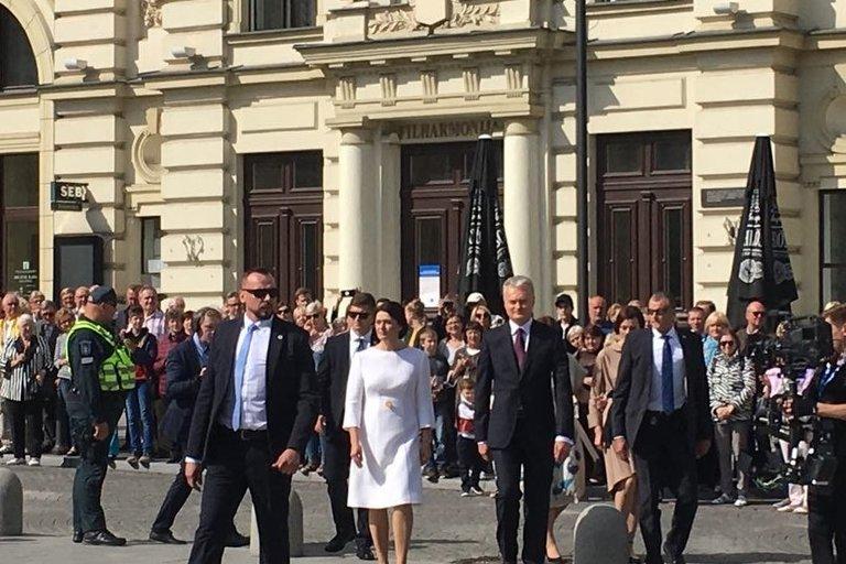 Išrinktasis prezidentas Gitanas Nausėda su žmona Diana Nausėdiene (nuotr. tv3.lt)