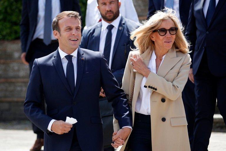 Emmanuelis Macronas ir Brigitte Macron (nuotr. SCANPIX)