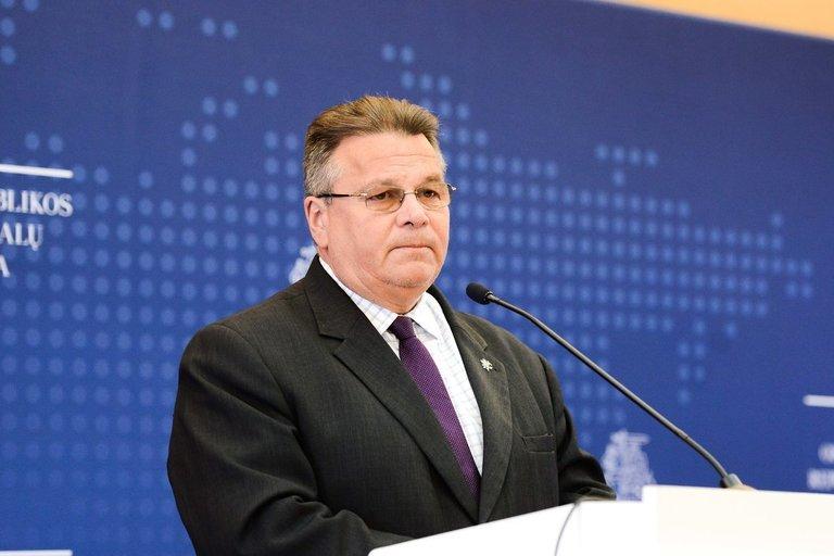 Užsienio reikalų ministro Lino Linkevičiaus spaudos konferencija (nuotr. Fotodiena/Justino Auškelio)