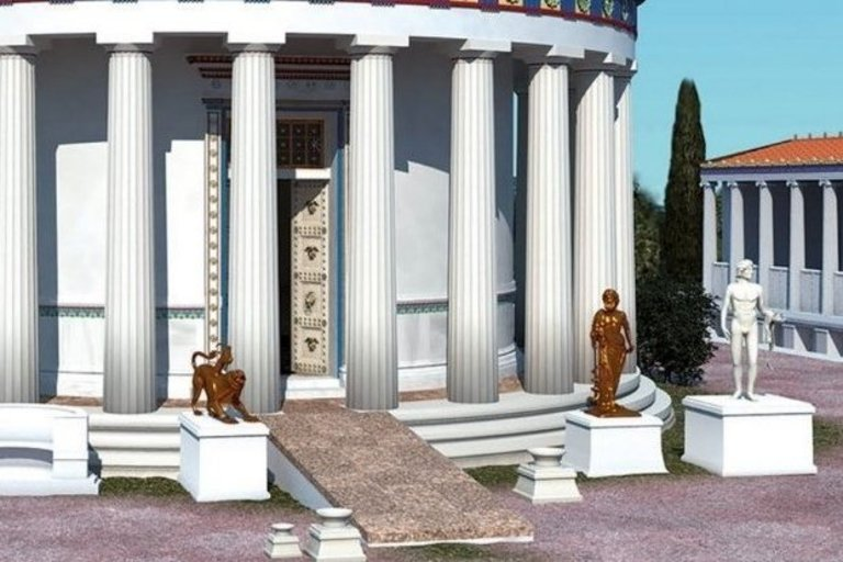Asklepijaus šventyklos Epidaure rekonstrukcija. Nuotr. šaltinis www.sciencealert.com.
