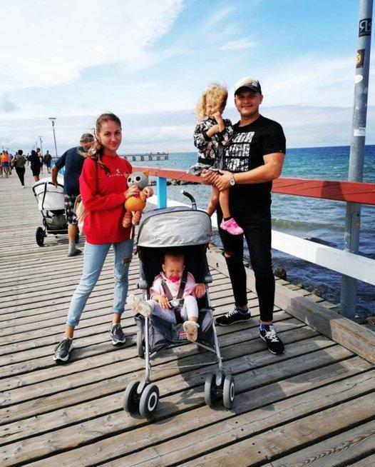 Kristina Šerkšnienė su šeima