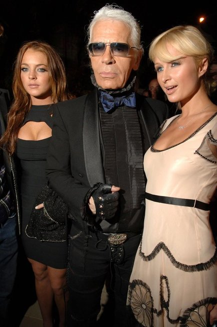 Lindsay Lohan, Karl Lagerfeld, Paris Hilton