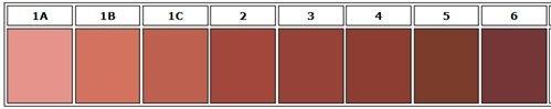 Mėsos atspalvių lentelė