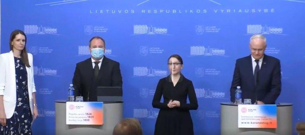 Konferencija Vyriausybėje (nuotr. stop kadras))
