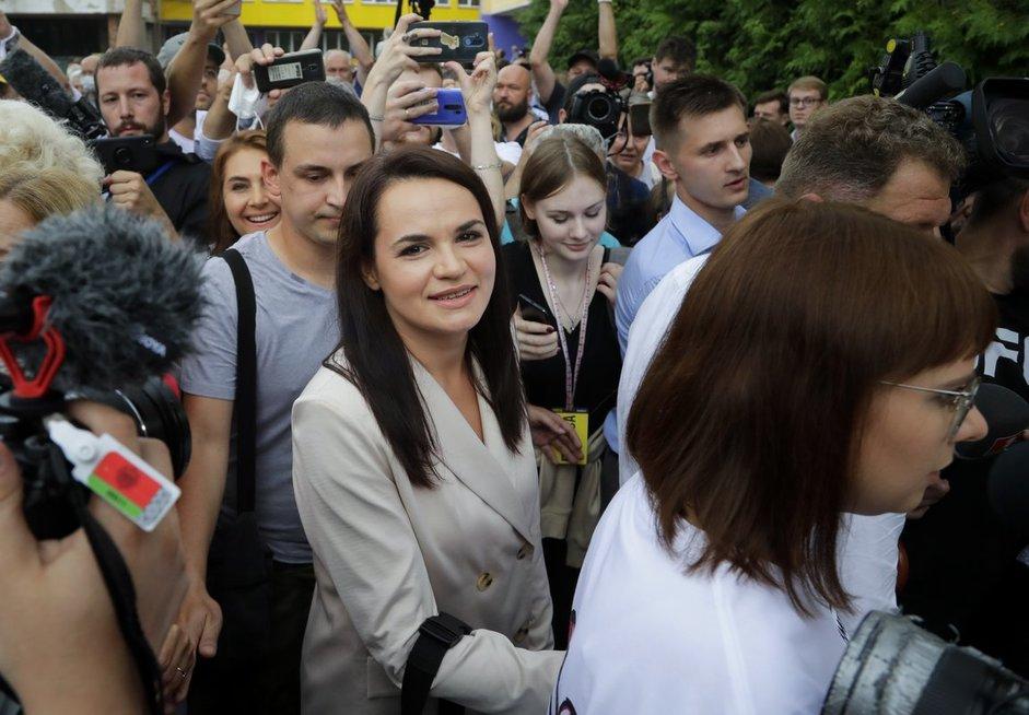 Tichanovskaja paskelbė laikanti save Baltarusijos prezidento rinkimų nugalėtoja