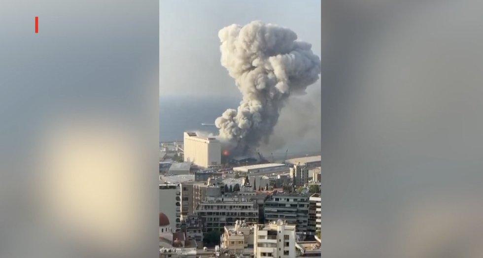 Beirutą sudrebino spogimas: vaizdas iš oro atima žadą