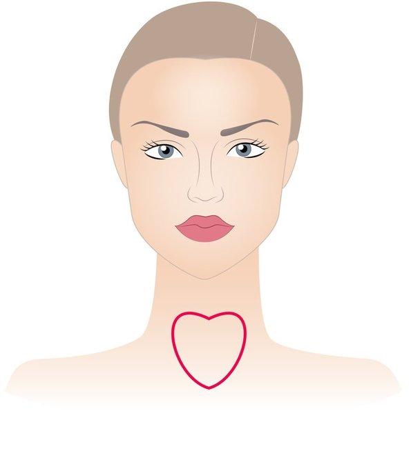 Širdelės formos veidas