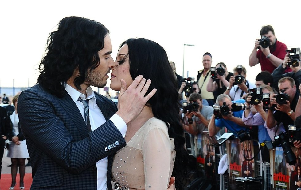Katy Perry ir Russell Brand