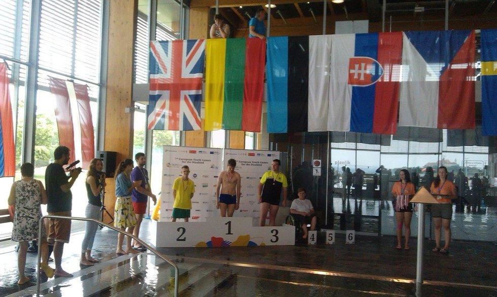 Dovydas Juodžiukynas iškovojo sidabrą Europos jaunimo neįgaliųjų žaidynėse (nuotr. facebook.com)