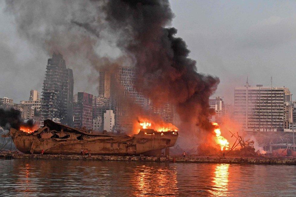 Sprogimo Beirute pasekmės