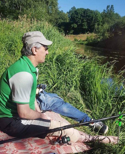 Vienas iš Rolando pomėgių – žvejyba. (nuotr. asm. archyvo)
