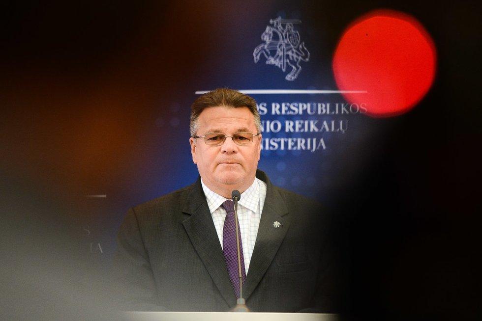 Užsienio reikalų ministro Lino Linkevičiaus spaudos konferencija